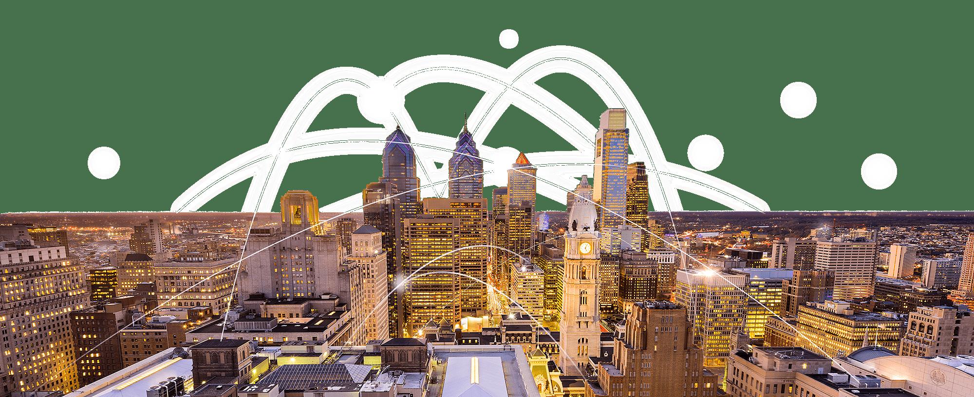 Depiction of a modern city